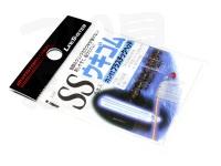 ラインシステム ウキゴム - カン付プラスチックヘッド #クリア SSサイズ 内径0.8mm