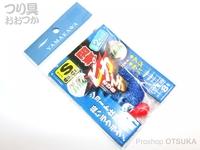 ヤマカワ ニュー関東 - ピカイチサビキ コマセ袋 小 オモリ8号 ハゲ皮白 Sサイズ ハリ5号 ハリス0.8号 幹糸2号