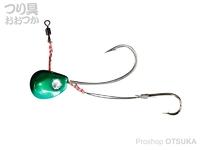 ジャッカル ビンビンテンヤ鯛夢 - 5号大 #メタルグリーン 5号 大針仕様
