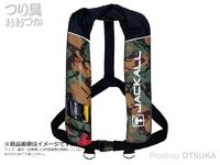 ジャッカル ライフジャケット - JK2520RS #グリーンカモ/ブラック