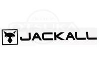 ジャッカル JKカッティングステッカー -  長方形 #ブラック サイズL