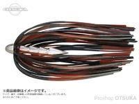 ジャッカル タングステンカスタムシンカー - ホールネイル #ブラックブラウンストライプ 3/32 2.7g