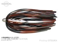 ジャッカル タングステンカスタムシンカー - ホールネイル #ブラックブラウンストライプ 3/16oz5.0g