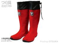ジャッカル パッカブルブーツ -  #レッド XLサイズ 27-27.5cm