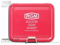 ジャッカル RGM(ルースターギアマーケット) - RGM TINケース #レッド 約 縦8×横10×深さ3cm