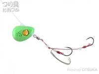 ジャッカル ビンビンテンヤ鯛夢 - 遊動 #ライムグローゴールドフレーク 5号