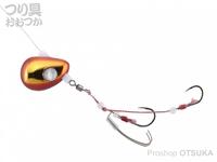 ジャッカル ビンビンテンヤ鯛夢 - 遊動 #レッド/ゴールド 8号