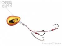 ジャッカル ビンビンテンヤ鯛夢 - 遊動 #エビオレンジ/ゴールド 8号
