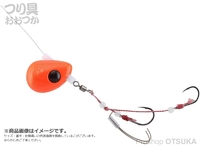 ジャッカル ビンビンテンヤ鯛夢 - 遊動 #オレンジゴールドフレーク 10号