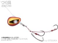ジャッカル ビンビンテンヤ鯛夢 - 遊動 #レッド/ゴールド 13号