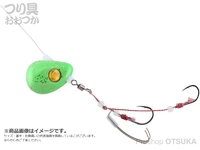 ジャッカル ビンビンテンヤ鯛夢 - 遊動 #ライムグローゴールドフレーク 13号