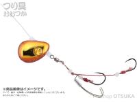 ジャッカル ビンビンテンヤ鯛夢 - 遊動 #エビオレンジ/ゴールド 15号