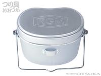 ジャッカル RGM(ルースターギアマーケット) - RGM 飯盒バケツ 容量 2.2L/4合炊き 素材 アルミニウム/スチール サイズ 約20.5×11.5×14cm