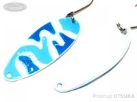 ウォーターランド アルミン -  2.5g #C08 ブルー/ホワイトカモ 2.5g