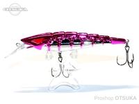 ウォーターランド スケルトンミノー -  シンキング #06 ピンク/シルバー 95mm 16g