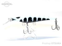 ウォーターランド スケルトンミノー -  フローティング #01 ブラック/ホワイト 95mm 11g