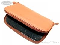 ウォーターランド ルアーケース・ワレット - ヤギ革スプーンワレット #ブラウン XLサイズ H13.5cm×W21cm