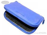 ウォーターランド ルアーケース・ワレット - ヤギ革スプーンワレット #ブルー XLサイズ H13.5cm×W21cm