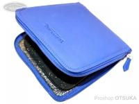 ウォーターランド ルアーケース・ワレット - ヤギ革スプーンワレット #ブルー ボックスメガサイズ H19cm×W17.5cm