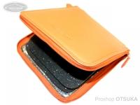 ウォーターランド ルアーケース・ワレット - ヤギ革スプーンワレット #オレンジ ボックスメガサイズ H19cm×W17.5cm
