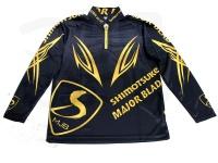下野オリジナル MJB ライトクールシャツ - SMS-435 #ブラック/ゴールド LLサイズ
