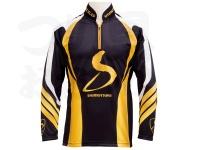下野オリジナル MJB メジャーブラッドライトクールシャツ - SMS-450DG # ブラック×ゴールド Mサイズ