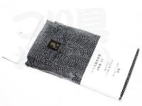 金鯱 ウキ箱用布袋 - ハリス箱NO.K713用 #ブラック&ホワイトドット 綿100%