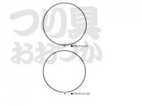 がまかつ タモ枠(ワンピースジュラルミン) - GM-827 ブラック/ゴールド 45cm