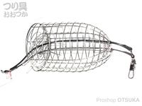 マルシン漁具 ステンカゴ - ステンB #シルバー サイズ 2L