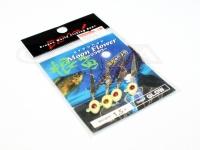 マルシン漁具 RFジグヘッド - ムーンフラワー #グロー 1.5g