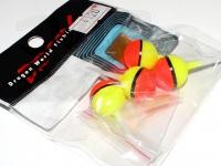 マルシン漁具 蛍光玉ウキ - -  5号 浮力:割ビシ小