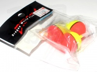 マルシン漁具 蛍光玉ウキ - -  7号 浮力:割ビシ大
