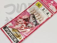マルシン漁具 アジサビキ 絶好調 -  ピンクラメ入り #ピンクスキン ラメ入り 鈎10号 ハリス3号 幹糸4号
