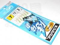 マルシン漁具 アジサビキ 絶好調 -  白ラメ入り #白スキン ラメ入り 鈎 7号 ハリス1.5号 幹糸3号