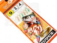 マルシン漁具 アジサビキ 絶好調 -  ミックスラメ入り #ミックススキン 鈎9号 ハリス3号 幹糸4号