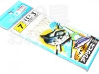 マルシン漁具 アジサビキ 絶好調 -  ハゲ皮白 #ハゲ皮 白 鈎7号 ハリス1.5号 幹糸3号