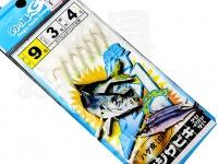 マルシン漁具 アジサビキ 絶好調 -  ハゲ皮白 #ハゲ皮 白 鈎9号 ハリス3号 幹糸4号