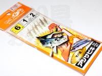 マルシン漁具 アジサビキ 絶好調 -  サバ皮 #サバ皮 鈎6号 ハリス1号 幹糸2号