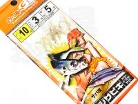 マルシン漁具 アジサビキ 絶好調 -  サバ皮 #サバ皮 鈎10号 ハリス3号 幹糸5号
