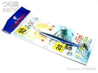 マルシン漁具 ジギング堤防サビキセット インパクト -  ブルーピンク ジグ:ブルーピンク28g 流線胴打10号 ハリス4号 幹糸6号