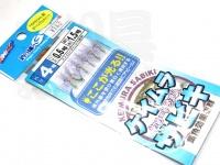 マルシン漁具 ケイムラサビキ -  ショートラメ入り 6本針 ハリ4号 ハリス0.6号 幹糸1.5号