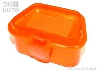 マルシン漁具 (C)プラエサ箱 - - クリアーレッド