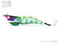 ヤマカワ オクトパスゲーム - レッツライド #グリーン 3.5号 35g ラトル内蔵