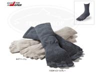 キャラバン RLソックス - RLメリノ5本指 #チャコールグレー L(26.0~28.0cm) 薄手