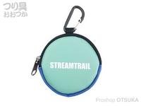 キャップス ストリーム トレイル - コインケースIII #エメラルド/ブルー 直径8×奥行2cm(カラビナ含まず)