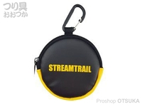 キャップス ストリーム トレイル - コインケースIII #ブラック/イエロー 直径8×奥行2cm(カラビナ含まず)