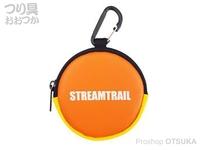 キャップス ストリーム トレイル - コインケースIII #オレンジ/イエロー 直径8×奥行2cm(カラビナ含まず)