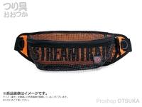 キャップス ストリーム トレイル - メッシュウェストポーチ #オレンジ 幅17×高さ12×奥行5cm