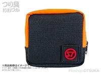 キャップス ストリーム トレイル - チャームポーチ # ブラック/オレンジ 幅9.5×高さ9.5×奥行4cm