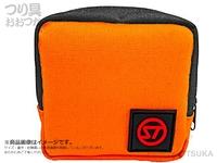 キャップス ストリーム トレイル - チャームポーチ # オレンジ/ブラック 幅9.5×高さ9.5×奥行4cm